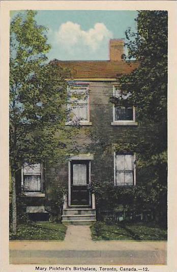Mary Pickford's Birthplace, Toronto, Ontario, Canada, 1930-1940s