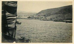 Belgian Congo real photo ships boat coast to identify