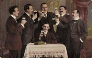 Happy New Year Men toast cheers 02.60