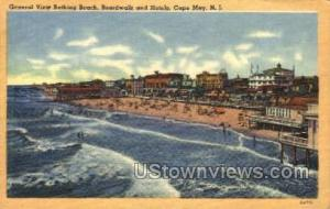 Bathing Beach  Cape May NJ 1951
