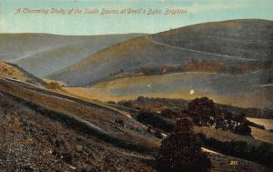 South Downs at the Devil's Dyke near Brighton Postcard
