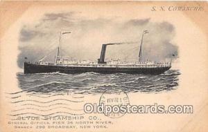 SS Comanche Clyde Steamship Co, New York USA Ship Postcard Post Card Clyde St...