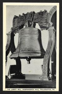 The Liberty Bell Independence Hall Philadelphia Pennslyvania Unused c1940s