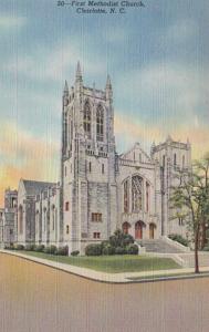 North Carolina Charlotte First Methodist Church 1954 Curteich