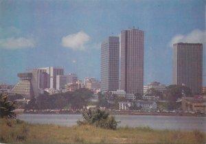 Postcard Cote d'Ivoire Abidjan skyline view cityscape