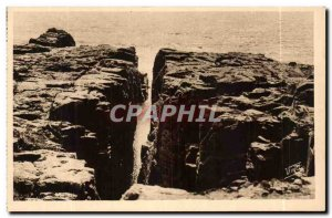 Old Postcard Les Sables D & # 39Olonne The Chasm of the Well & # 39Enfer Corn...