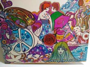Pop Culture Folder 1970 Psychedelic Groovy Mod Retro Peace Love John Wayne