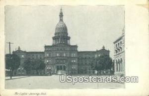 The Capitol Lansing MI Writing on back