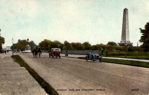 Dublin, Ireland - Driving in Phoenix Park by the Wellington Monument - c1908