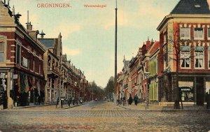 Netherlands Groningen Westersingel 1912 Postcard