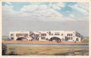 Gallup New Mexico New Santa Fe Hotel Station Antique Postcard K57069