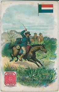 vintage ARTIST DRAWN postcard - POST ARROUND THE WORLD:   TRANSVAAL