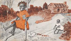 Black Americana~Kornelia Kinks on Stilts~Chile Trips Her Up~Buffalo H-O Co~1905