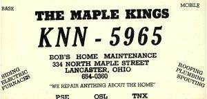 Vintage QSL Postcard  KNN 5965  Lancaster, Ohio  Bob King  -T-