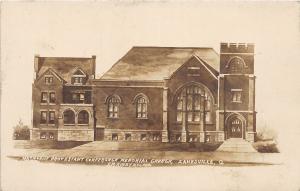 D20/ Zanesville Ohio Postcard Real Photo RPPC c1910 M.P Church Conference Mem.
