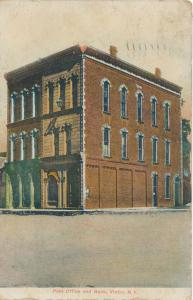Victor, Ontario County NY, New York - Post Office and Bank - pm 1909 - DB