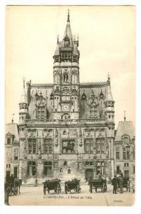 Horse Wagons, L'Hotel De Ville, Compiegne (Oise), France, 1900-1910s