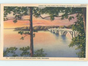 Linen SUNSET BY THE BRIDGE Hot Springs National Park Arkansas AR F3971