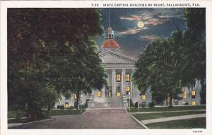 Florida Tallahassee State Capitol Building By Night