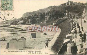 Old Postcard Sainte-Adresse The Maritime Boulevard and Cape of Heve