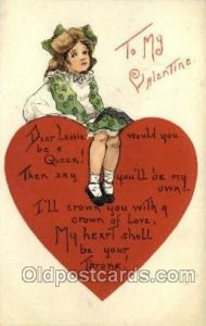 Artist HBG Valentines Day 1910 postal used unknown