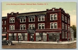 Frankfort NY~Union Building Stores~Citizens National Bank~Artist Conception~1912