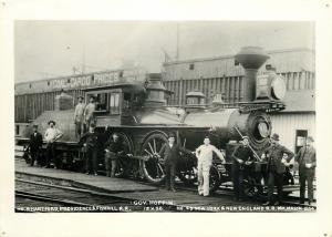 Train Photo~Gov Hoppin 1854~Hartford, Providence & Fishkill~NY&NE RR REPRINT