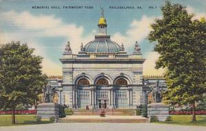 Pennsylvania Philadelphia Memorial Hall Fairmount Park 1943