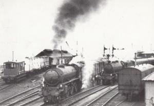 Engine 61271 & 62034 Leaving Mallaig Highlands in 1960 Train Railway Postcard