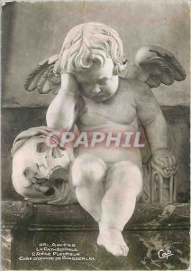 Modern Postcard Amiens The Cathedral Angel Pleursur Masterpiece Blasserlill