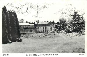 Lake Hotel Llangammarch Wells Wales Photo Postcard