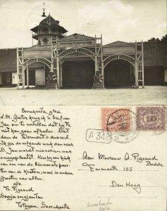 indonesia, JAVA SURAKARTA SOLO, Kraton Gates (1926) RPPC Stamps