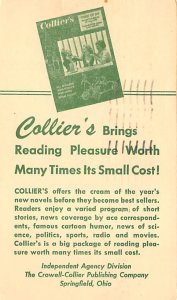 Collier's Springfield, OH, USA Advertising 1955 postal marking on front