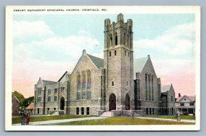 CRISFIELD MD ASBURY ME CHURCH ANTIQUE POSTCARD