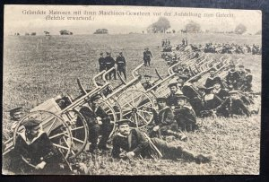 Mint Germany Real Picture Postcard RPPC machine guns before deployment