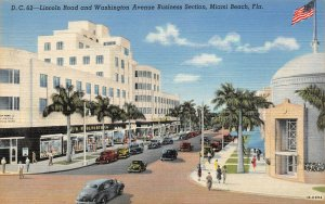 LP29   Miami Beach Florida Postcard Lincoln Road Business Section