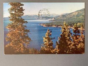 Cave Rock Lake Tahoe CA Chrome Postcard A1173090426