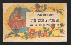VICTORIAN TRADE CARD Addison Fine Shoes Black Girl