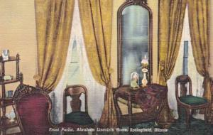Illinois Springfield Abraham Lincoln's Home Front Parlor 1951 Curteich