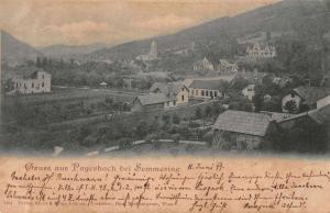 Payerbach bei Semmering Austria Scenic View Gruss aus Antique Postcard J59654