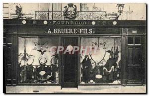 Postcard Old Son Furrier Bruere