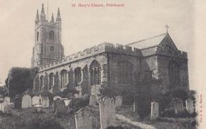 Prittlewell St Marys Church Stunning Antique Postcard