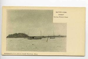 Onset MA Wickett's Island Boat Postcard