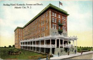 Atlantic City New Jersey~Kentucky Avenue & Beach~Sterling Hotel Vignette~c1905