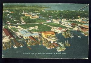 Biloxi, Mississippi/MS Postcard, Aerial View Of Seafood Waterfront Area, 1962!