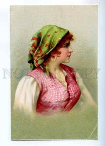 234476 Italy ITALIAN Girl BELLE Vintage LITHO postcard
