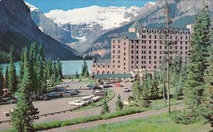 Chateau Lake Louise Entrance and Parking Lot Banff National Park Alberta Canada