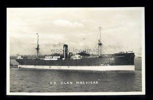 bf232 - Clan Line Cargo Ship - Clan Macvicar , built 1918 - postcard Feilden