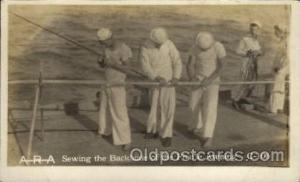 U.S.S. Frederick Military Ship Real Photo Ships Postcard Postcards Unused