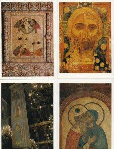 1976 Soviet-Era Russia Postcard Set - Kremlin Cathedral - Free Shipping